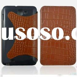 For samsung galaxy Note n7000 i9220 Crocodile Leather Pattern Flip Cover Case