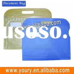 Frosted PVC document bag with a handle