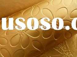 Gold flower leather, Fashion leather