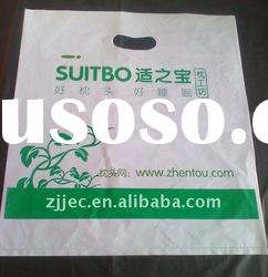HDPE recyclable die cut plastic bag for shopping
