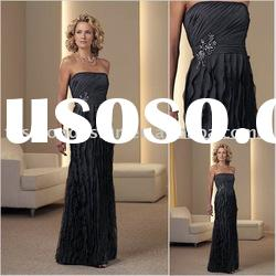 HLM00111 Newest style chiffon strapless floor length mother of bride dress