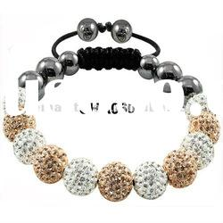 Hot Sale Shamballa Clay Crystal Pave Disco Ball Beads friendship Bracelet Amazing Gift SHA060