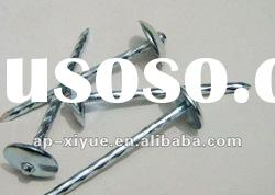 Hot dipped Galvanized umbrella head roofing nail