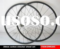 Hot sale!700C clincher wheels carbon fiber bicycle wheel set 20mm
