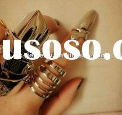 Hot sell metal nail ring punk style jewelry