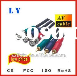 Hot selling RCA cable, AV cable, audio video cable,connector cable