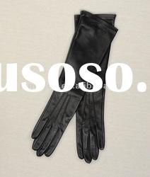 Ladies long driving gloves for summer,women wearing leather gloves