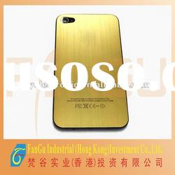 Low factory price of Aluminum gold color back cover for iphone 4g