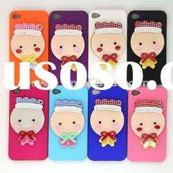 New cute design Mobile phone Cartoon baby mirror hard plastic 3D case for iphone 4 4G 4S 4GS