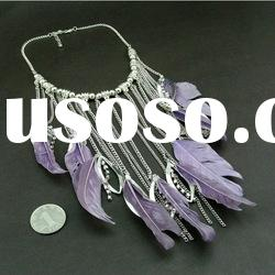 Newest Jewelry-Best selling costume feather necklace