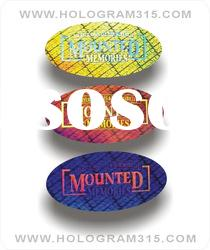 Newest custom adhesive hologram sticker labels manufacturing