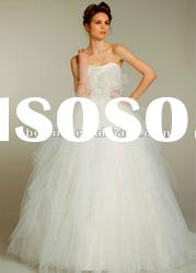 No.BL1156 Ivory Tulle Bias Cascade Bridal Ball gown REAL bridal dress