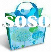 Nonwoven Lamination Shopping Bag Made of Nonwoven with Printed Opp Film Laminated, CMYK Printing