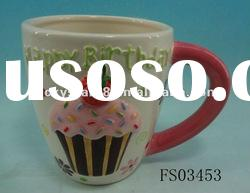 Popular colored ceramic mug with cake series