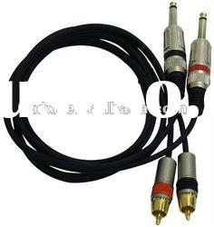 Professional Audio Link Cable 1/4'' Male to RCA Male