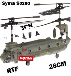RTF Syma S026G S026 Mini Transport 3 Channel Remote Control Helicopter With Gyro Toy Plane for Adult