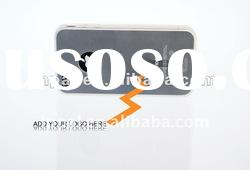 Scratchproof transparent soft tpu case for iphone 4/4s
