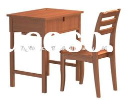 Solid wood school sets desks and chairs DW006