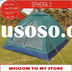 Stock 2 Persons Dome tent, simple camping tent, single layer, fiberglass pole tent
