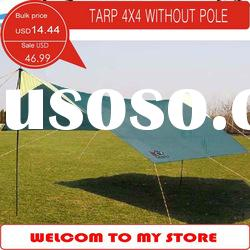 Stock Tarp 4X4M without pole, multi-purpose Tarpaulin, sun shelter for camping, outdoor activite