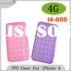TPU Soft Clear Skin Case Cover For New iPhone 4G