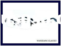 Titanium Men Half Frame Glasses