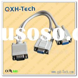 Top quality White color one out two pc cables