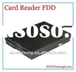 USB 2.0 portable floppy disk drive FDD with card reader