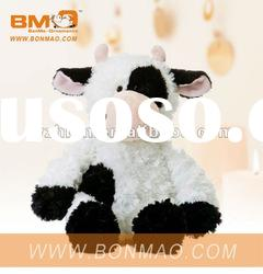 White and Black Cow Plush Soft Toy Stuffed Animals Toys