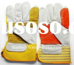cow split leather electrical long welding workplace safety gloves