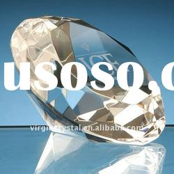 crystal glass diamond paperweight wedding gifts