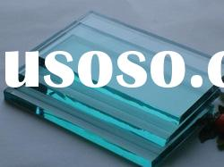 f green glass/ clear tinted float glass