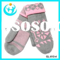 fashion acrylic knitted gloves