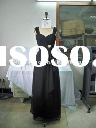 fashion black two shoulder evening dress beautiful accessary 6#