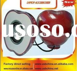 fashion design red apple shaped best usb portable laptop speaker