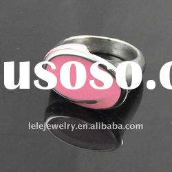 fashion pink stainless steel rings jewellery