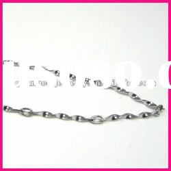fashion stainless steel cheap wave shape chain trendy jewelry necklace for women