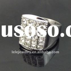 fashion stainless steel diamond ring for women