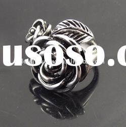fashion stainless steel flower rings jewellery popular in girls