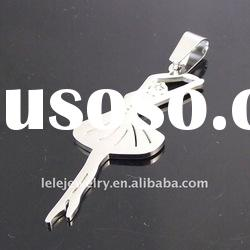 fashion stainless steel pendant jewelry with beauty ballet girls designs