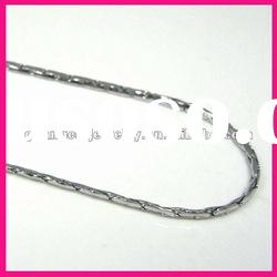 fashion stainless steel square hammered cable long large chain link necklace