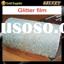 popular silver quality pvc glitter car body vinly wrap