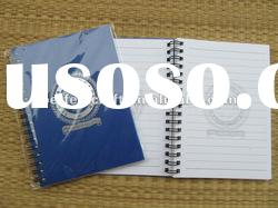 pp hard cover twin spiral notebook