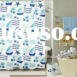 printed polyester pongee bathroom curtain fabric for sale