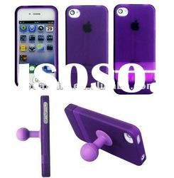silicone case with stand for Iphone 4S/4, best selling, with competitive price
