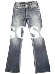 stock women's JEANS PANTS,cotton fashion jeans stocklot for lady