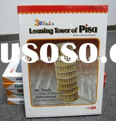 tower 3d puzzle, building paper model