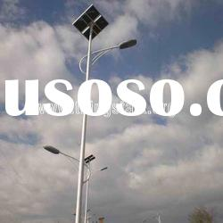 two arms solar led street light pole design guangdong