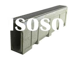 u-shape stainless steel grating polymer concrete drainage trench