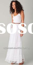 white long chiffon woman clothes for 2013 new styles